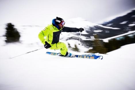 Ski Action Shot